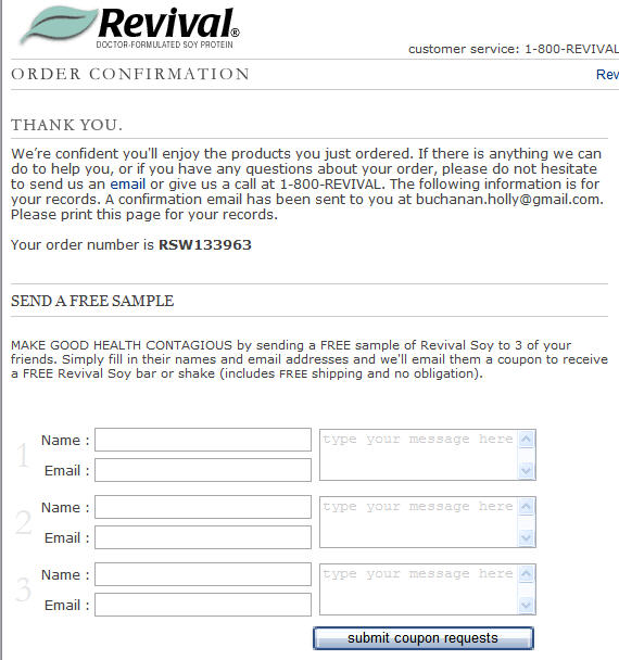 Revival Soy - free sample