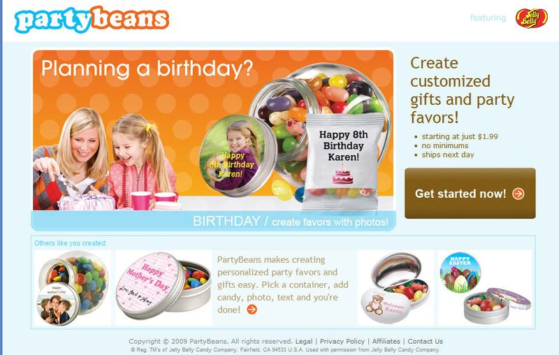 Party beans home page