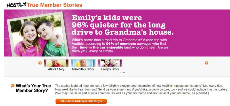 Audible - grandma landing page