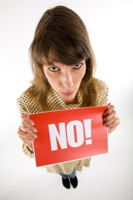 Woman saying no