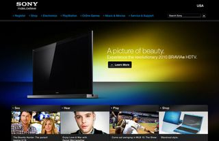 Sony home page