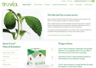 Truvia about us page