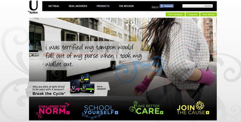 U by Kotex home page
