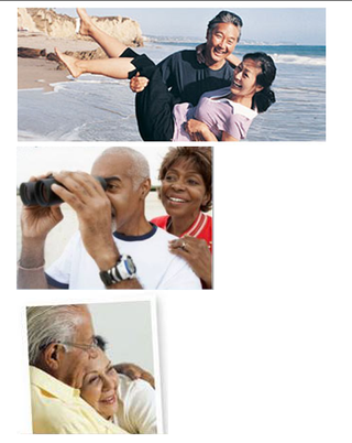 Financial services ad images - couples
