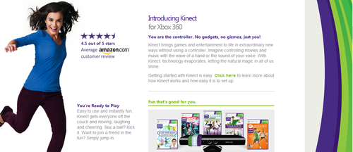 Kinect home page