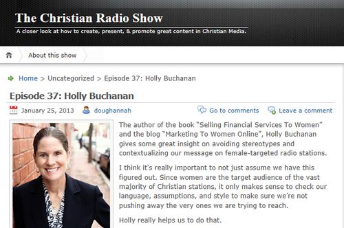 The Christian Radio Show Holly Buchanan